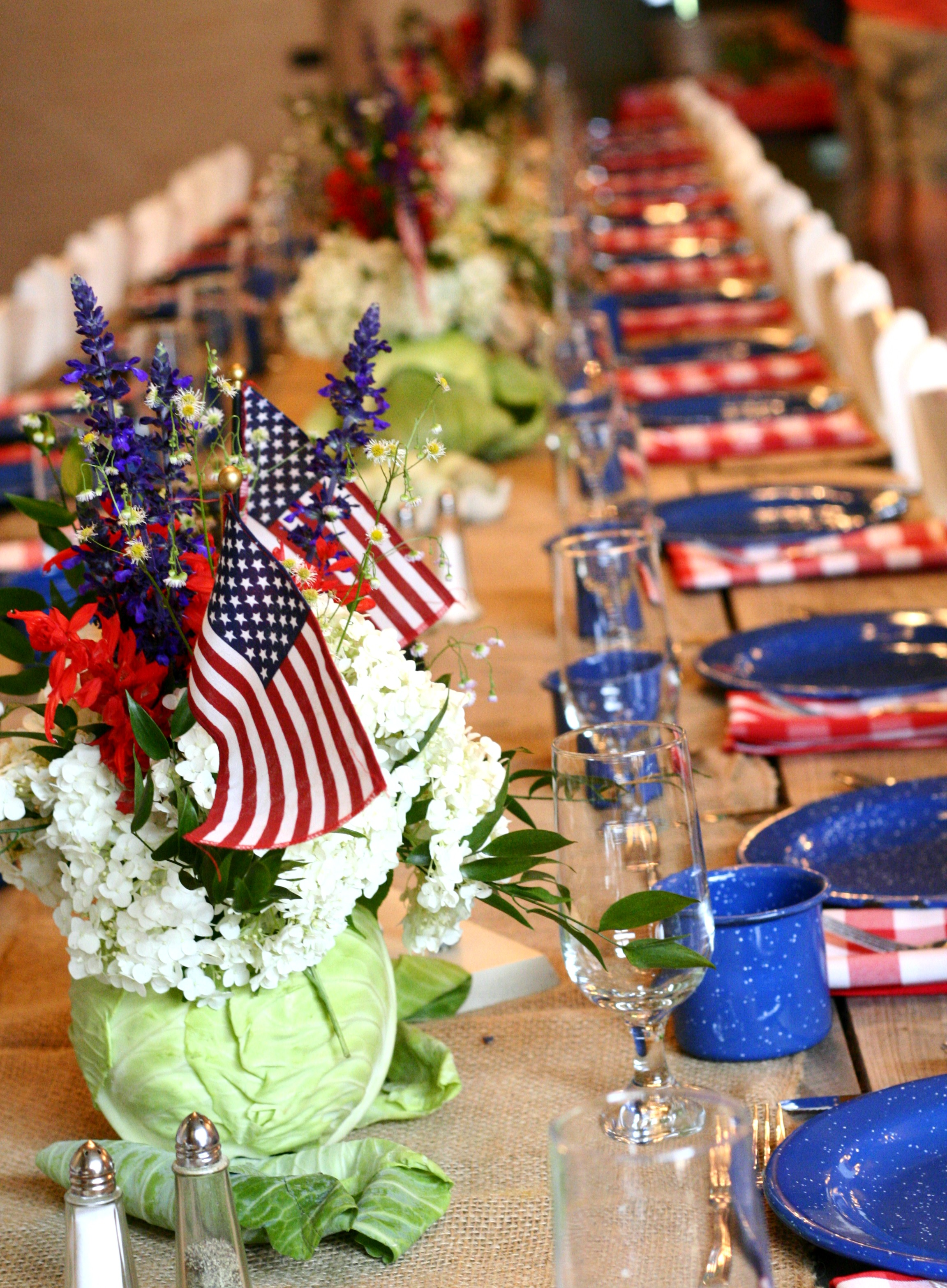 Patriotic Garden Table