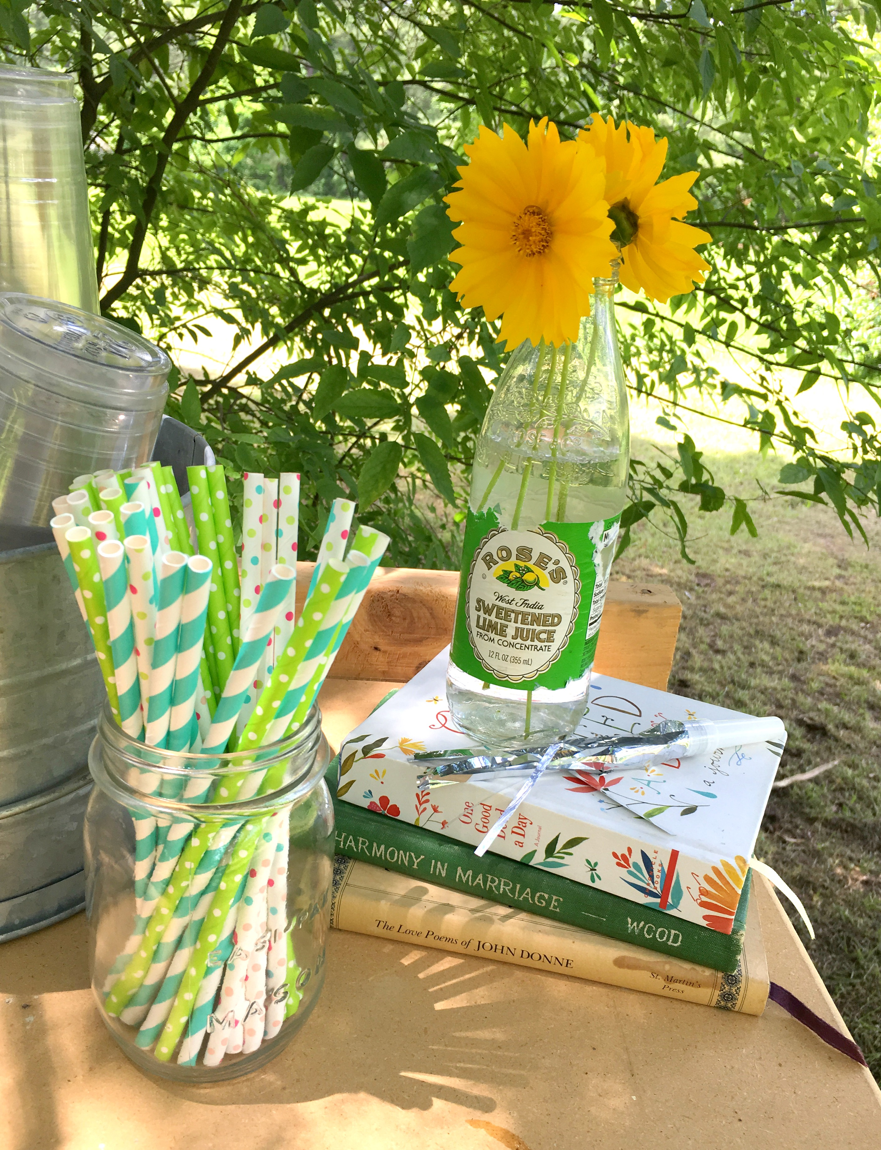 Flowers and straws